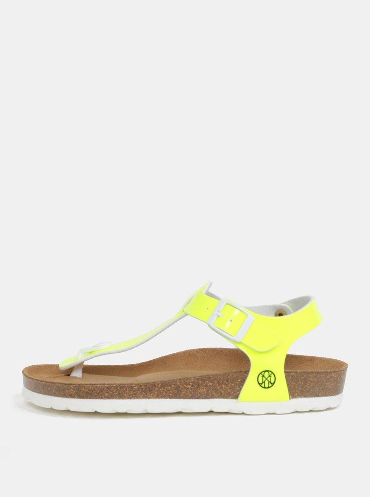 Neónovožlté dámske sandále OJJU