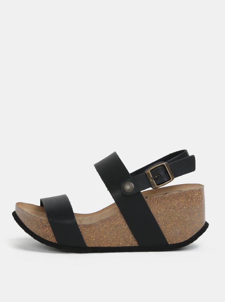 Černé sandály na platformě OJJU