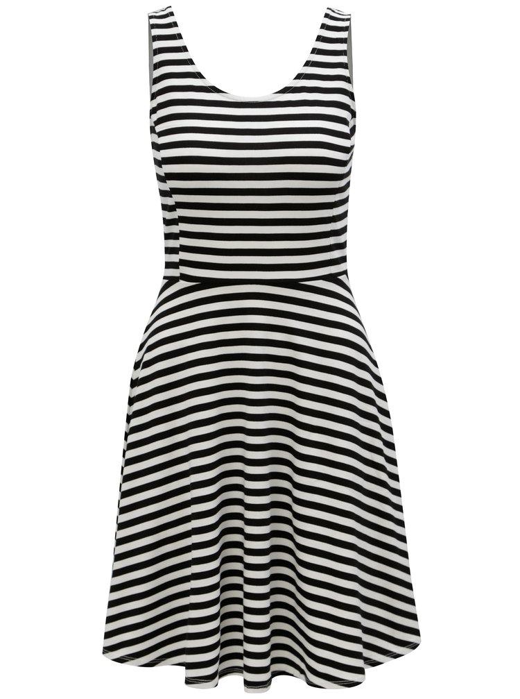 Černo-bílé pruhované šaty Dorothy Perkins