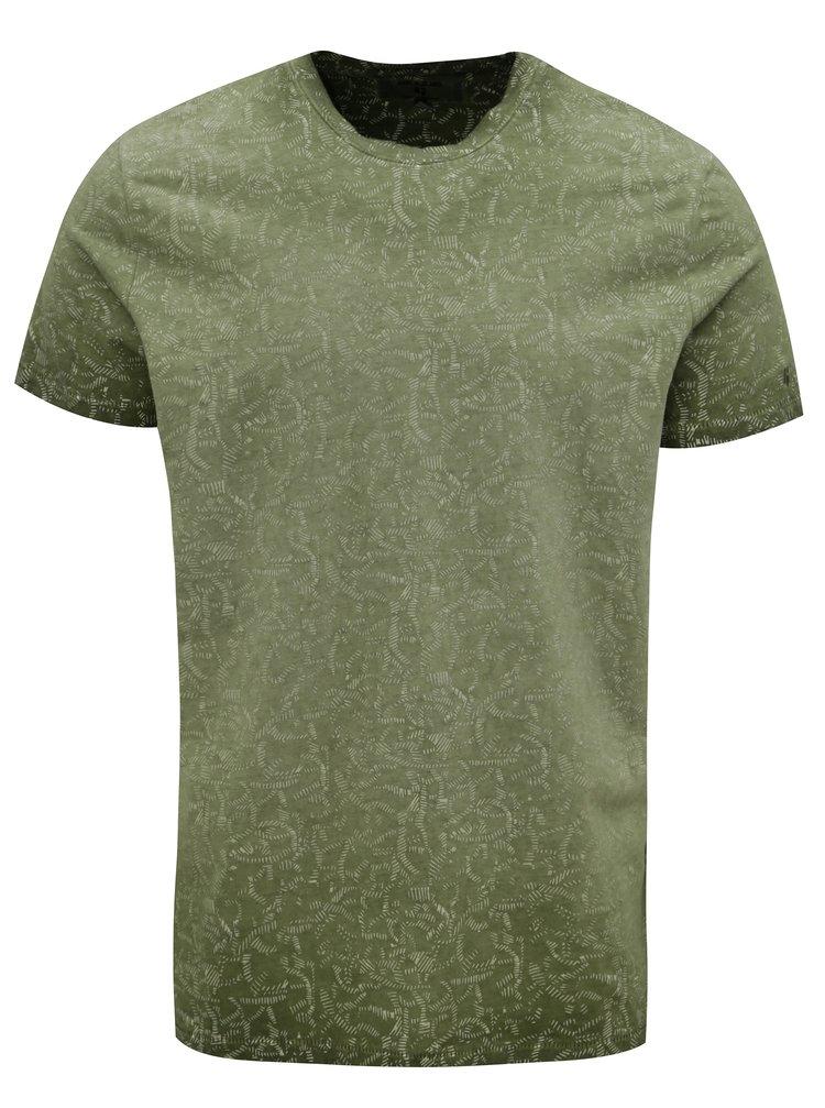 Tricou barbatesc verde cu model Garcia Jeans