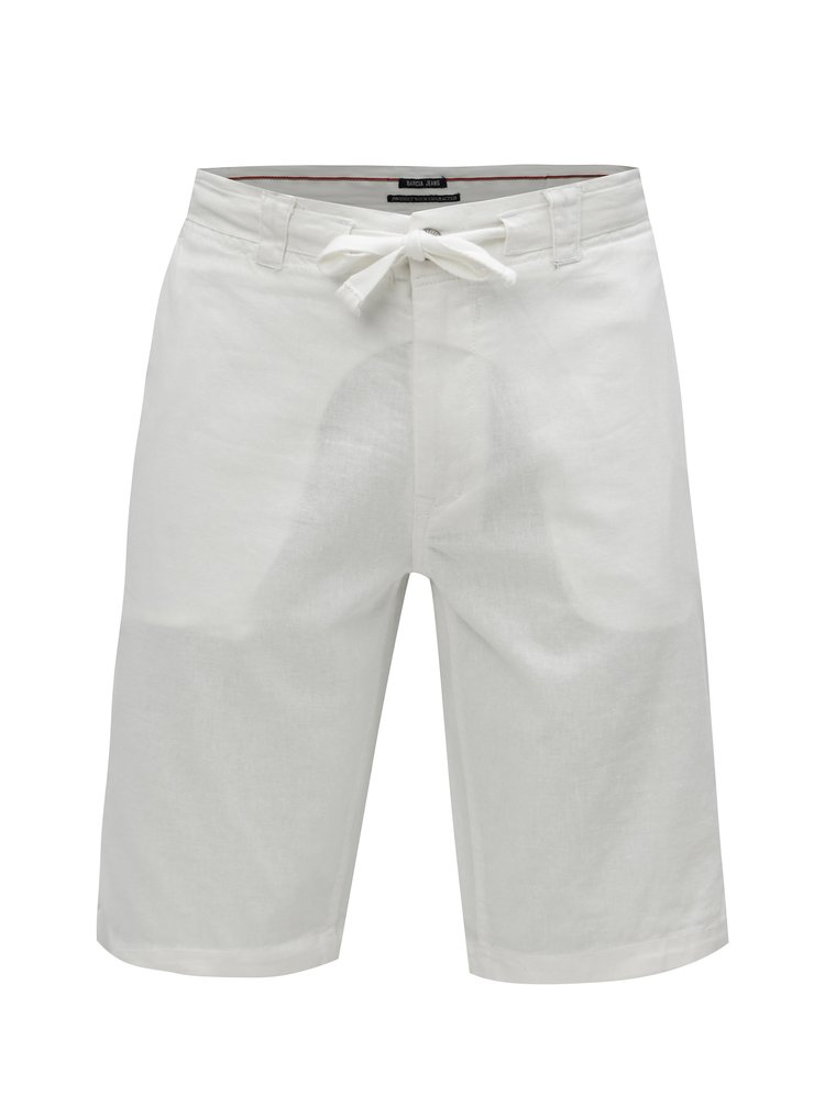Pantaloni barbatesti scurti albi din in Garcia Jeans