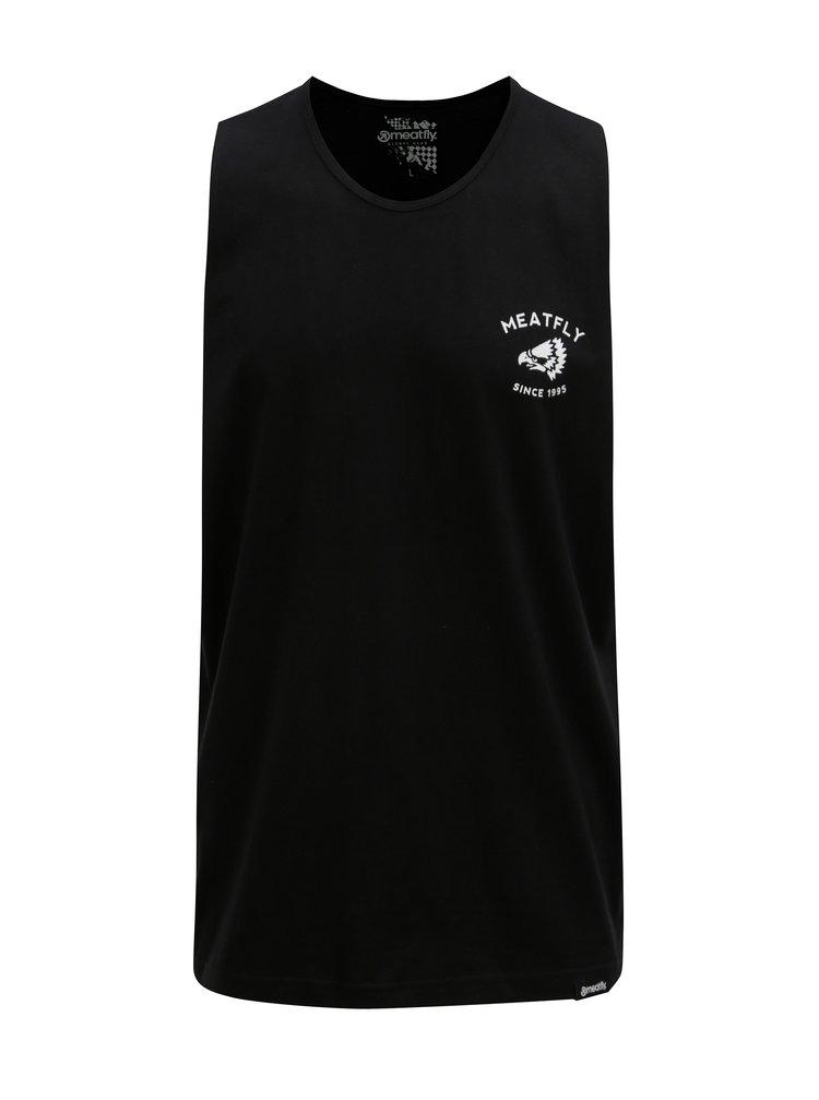 Maiou negru cu print pentru barbati MEATFLY Ripped