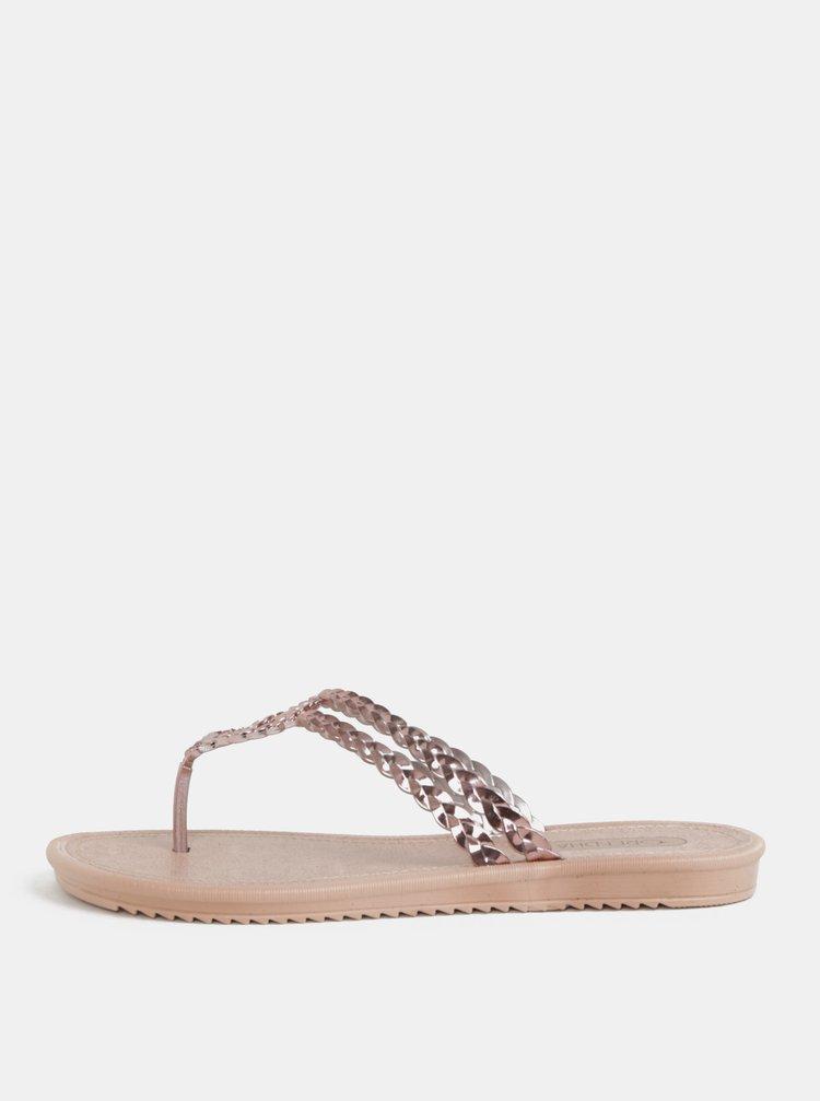 Papuci flip-flop roz auriu Grendha Riviera