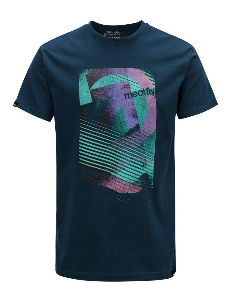 Tmavomodré pánske tričko MEATFLY Domino