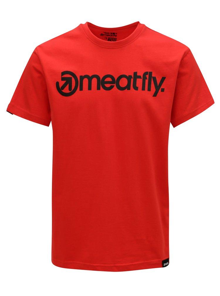 Tricou rosu pentru barbati MEATFLY Logo