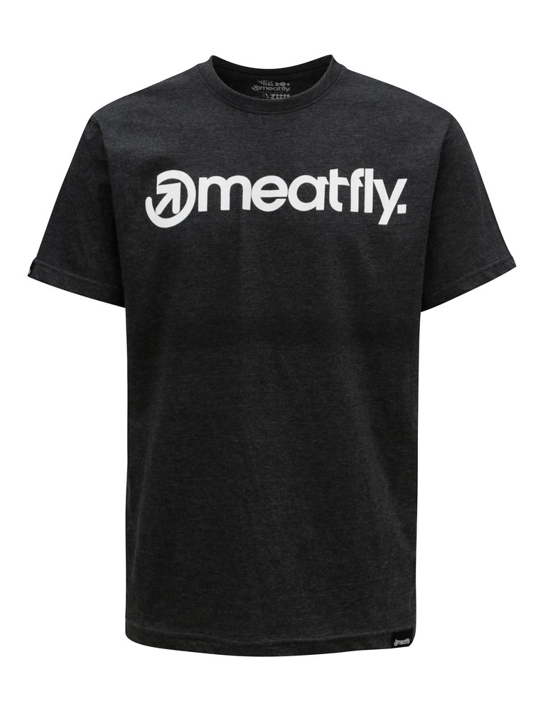 Tmavě šedé pánské tričko MEATFLY Logo