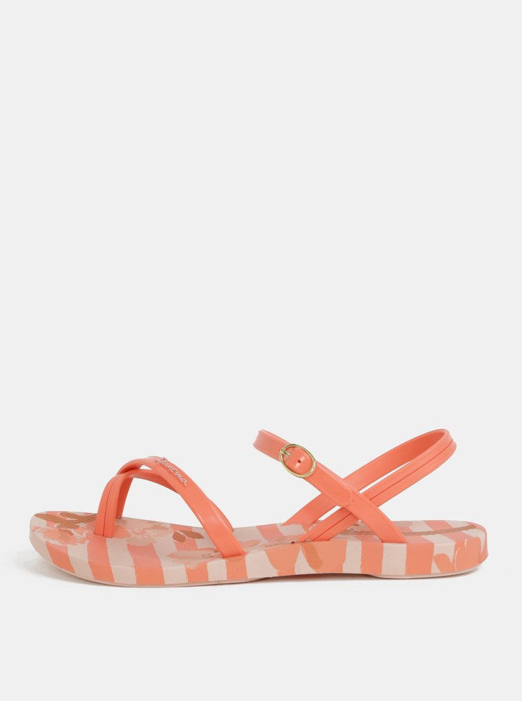 Marhuľovo–oranžové vzorované sandále Ipanema Fashion Sand