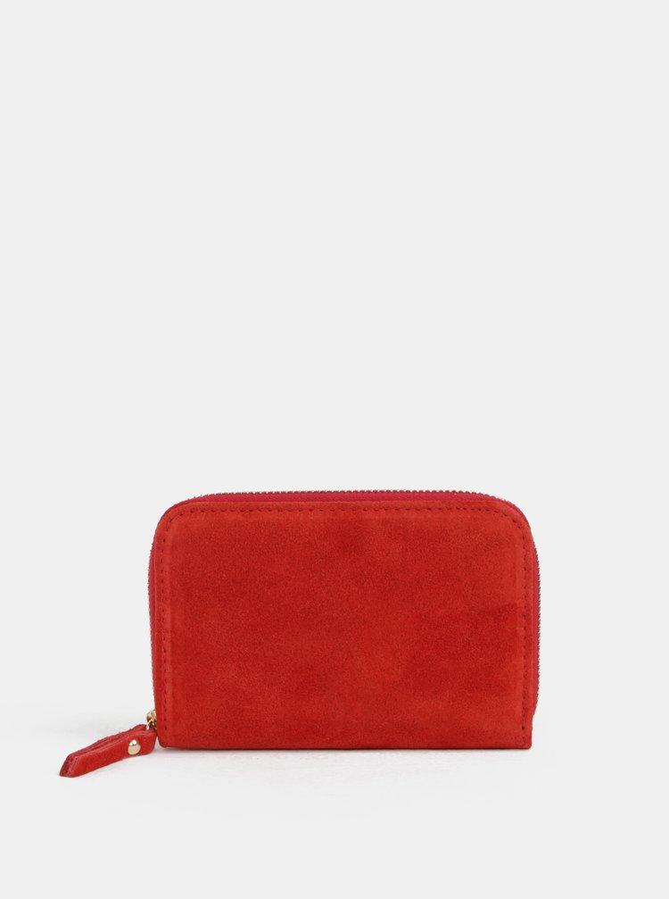 Červená semišová malá peněženka ZOOT