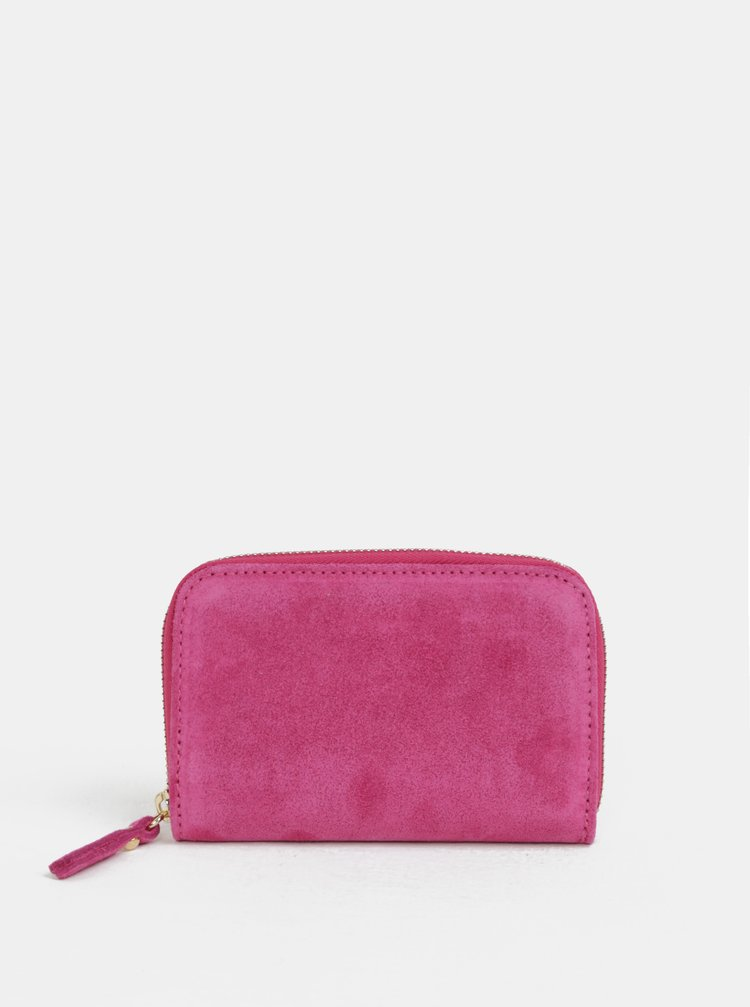 Ružová semišová malá peňaženka ZOOT