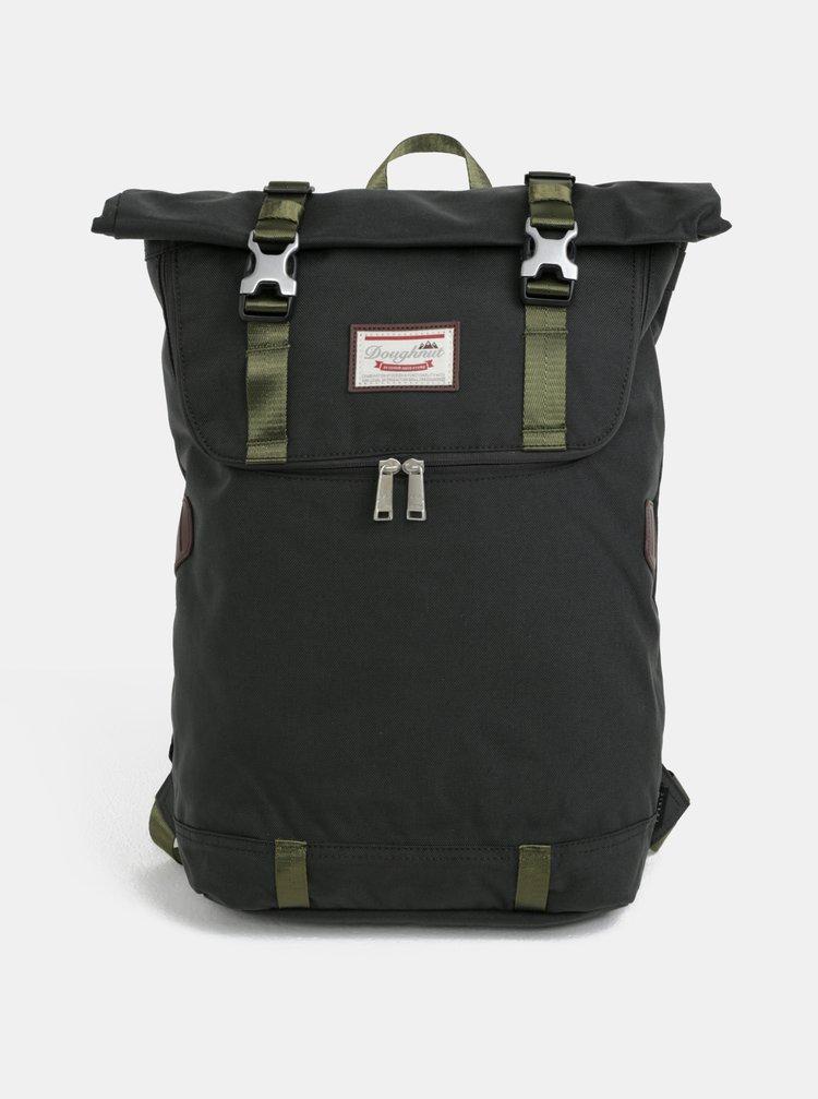 Tmavě zelený batoh s koženými detaily Doughnut Christopher