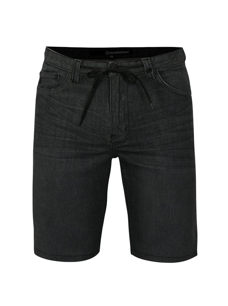 Tmavě šedé pánské džínové kraťasy Horsefeathers Aspahlt
