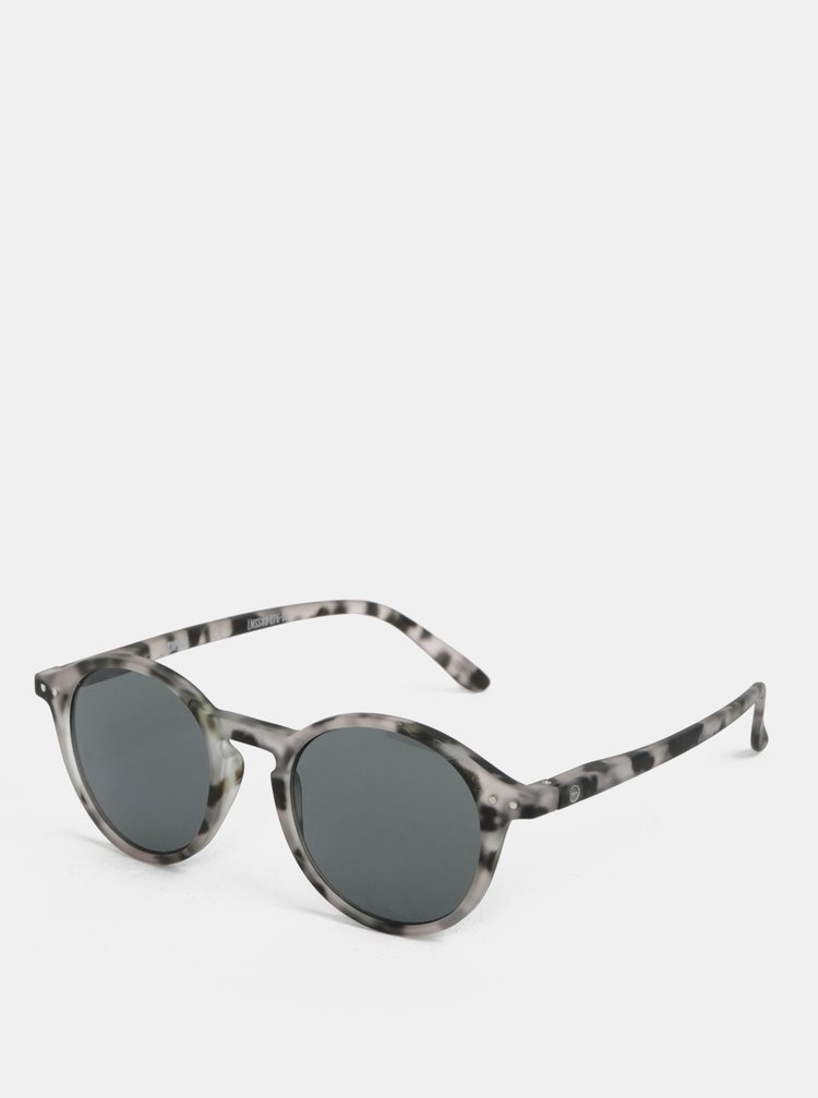 Černo-šedé vzorované sluneční brýle IZIPIZI #D