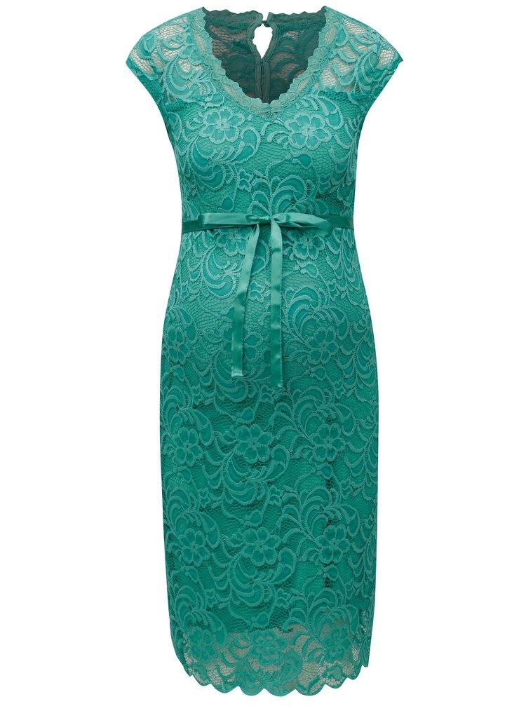 Zelené krajkové těhotenské šaty Mama.licious New Mivana