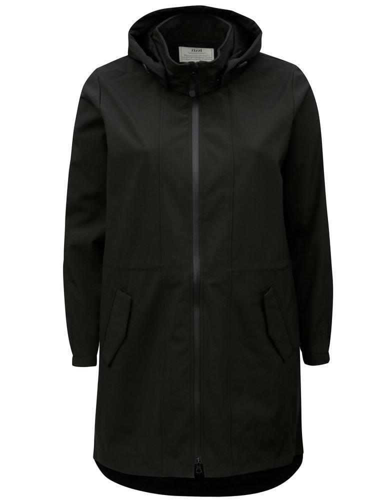 Černý voděodolný softshellový kabát s kapucí Zizzi