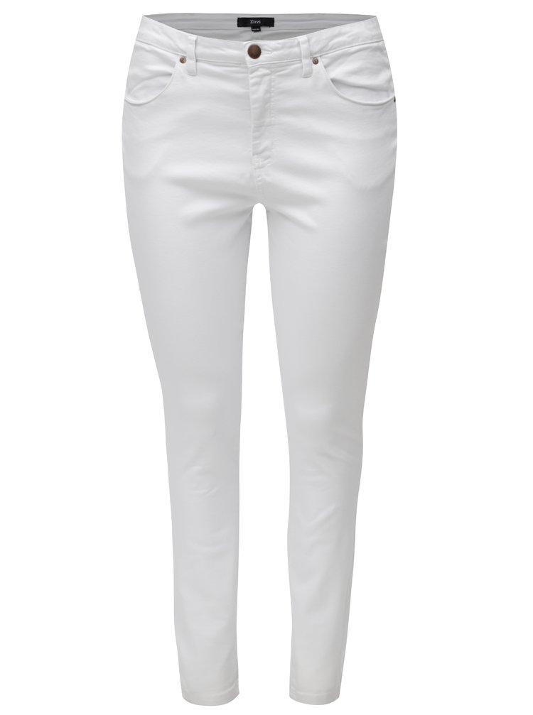 Bílé dámské slim džíny Zizzi
