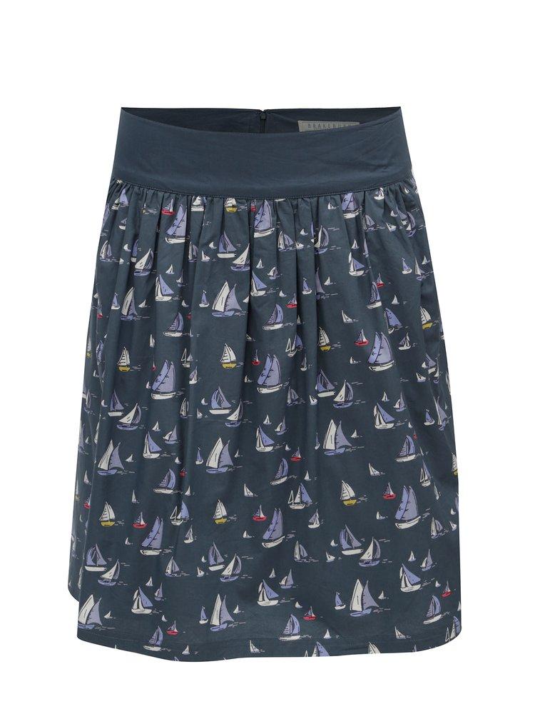 Tmavě šedá sukně s motivem plachetnic Brakeburn
