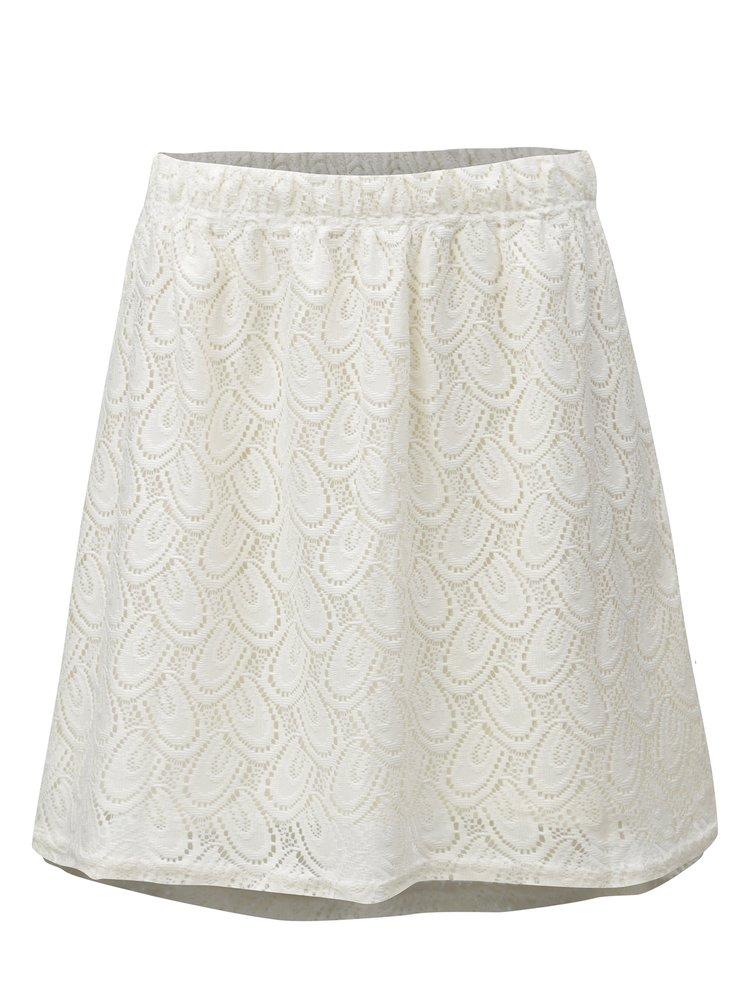 Krémová krajková sukně Jacqueline de Yong Cart