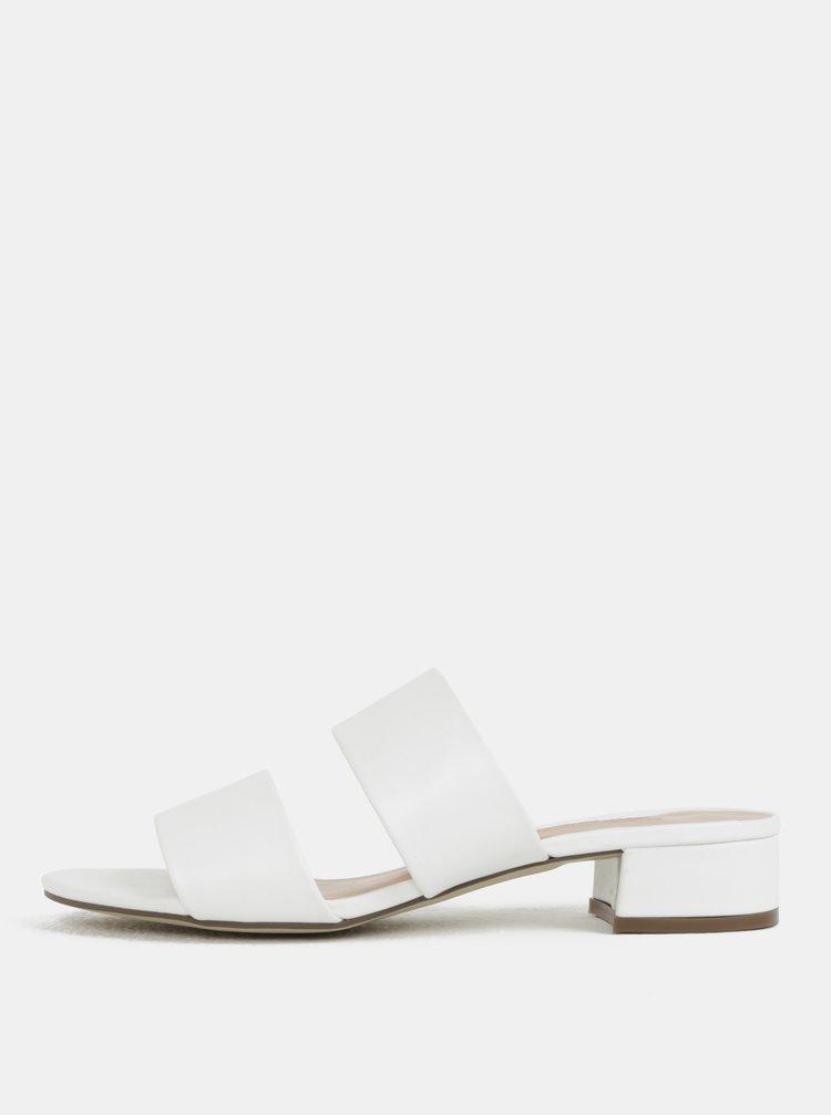 Bílé pantofle na podpatku Dorothy Perkins