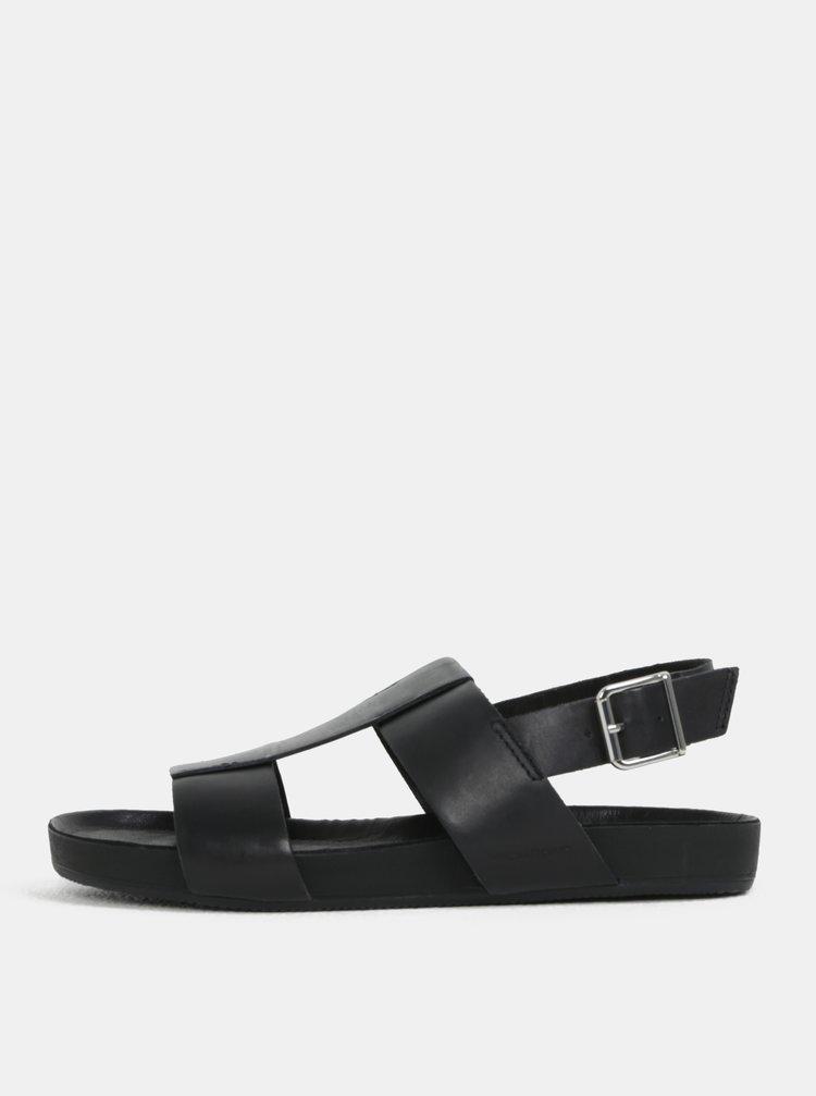 Černé pánské kožené sandály Vagabond Funk