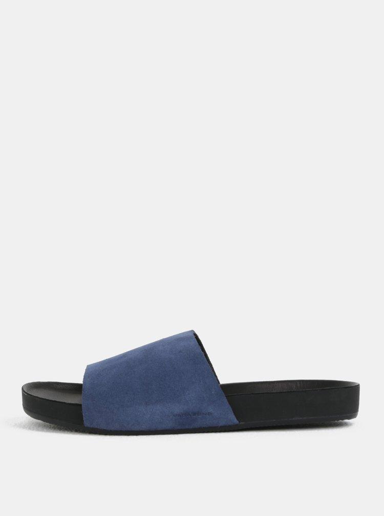 Modré pánské semišové pantofle Vagabond Funk