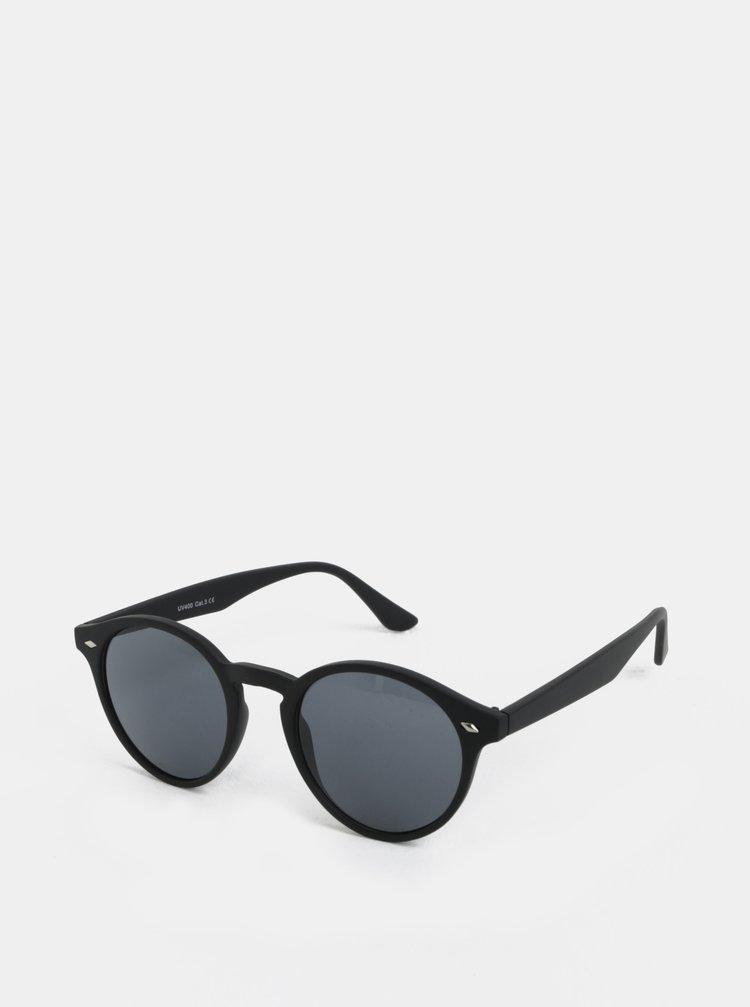 Ochelari de soare negri cu rama rotunda si detalii metalice ONLY & SONS Display