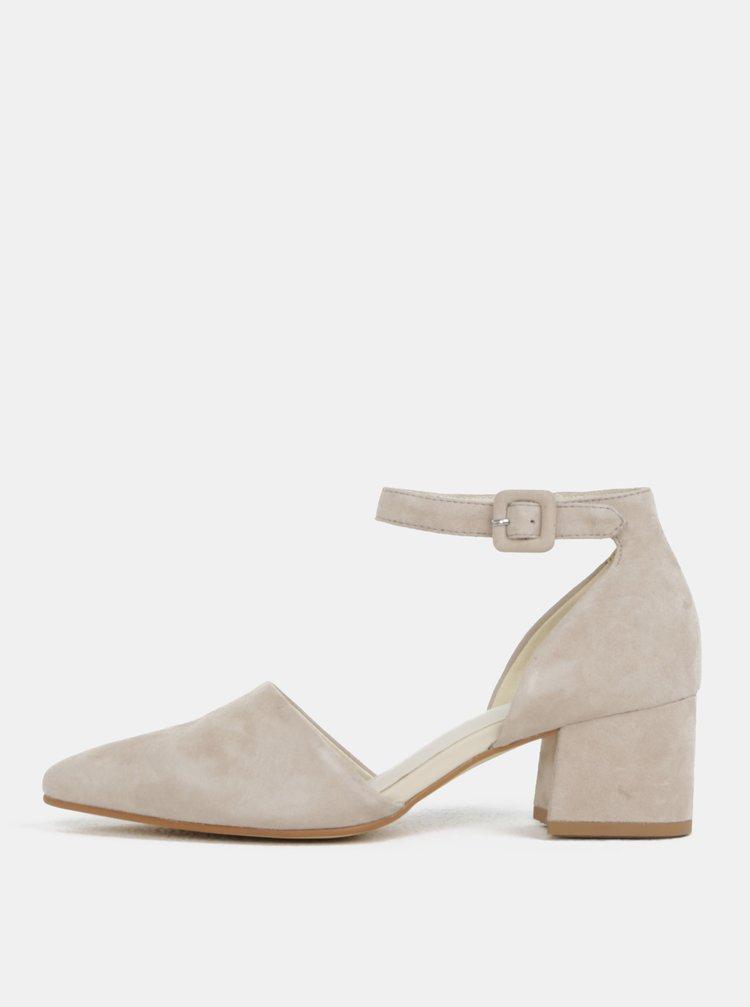 Krémové dámské semišové sandálky Vagabond Mya
