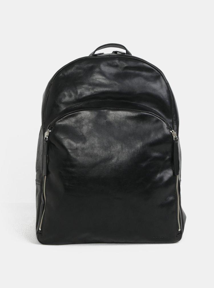 Černý dámský kožený batoh Vagabond Antibes