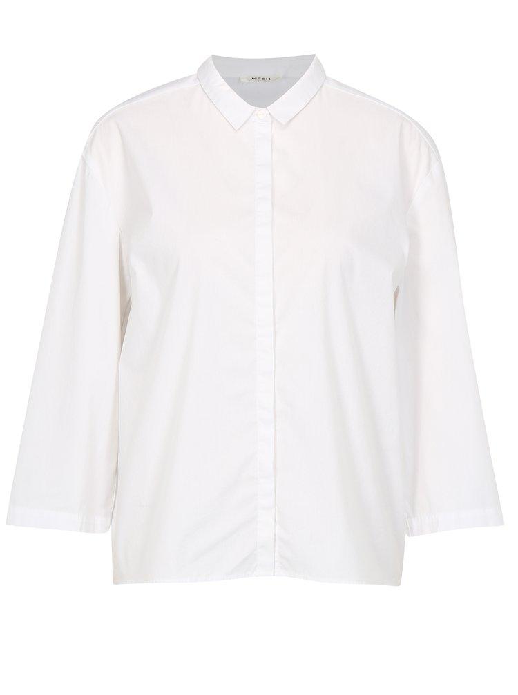 Bílá volná košile s 3/4 rukávem Moss Copenhagen Memba