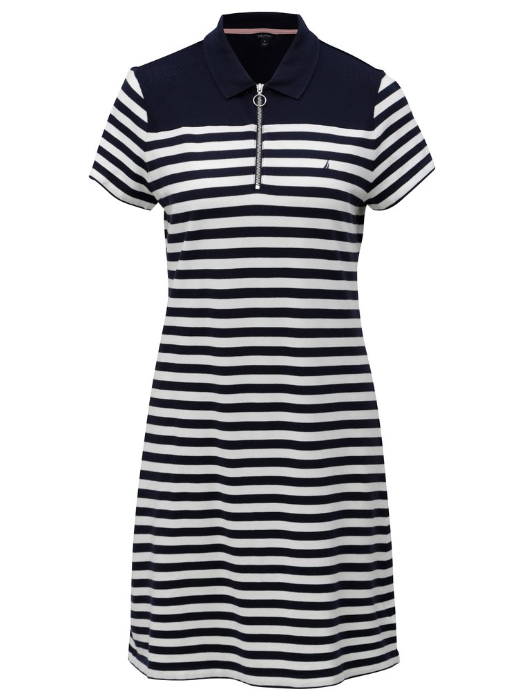 Bielo-modré pruhované šaty Nautica Above