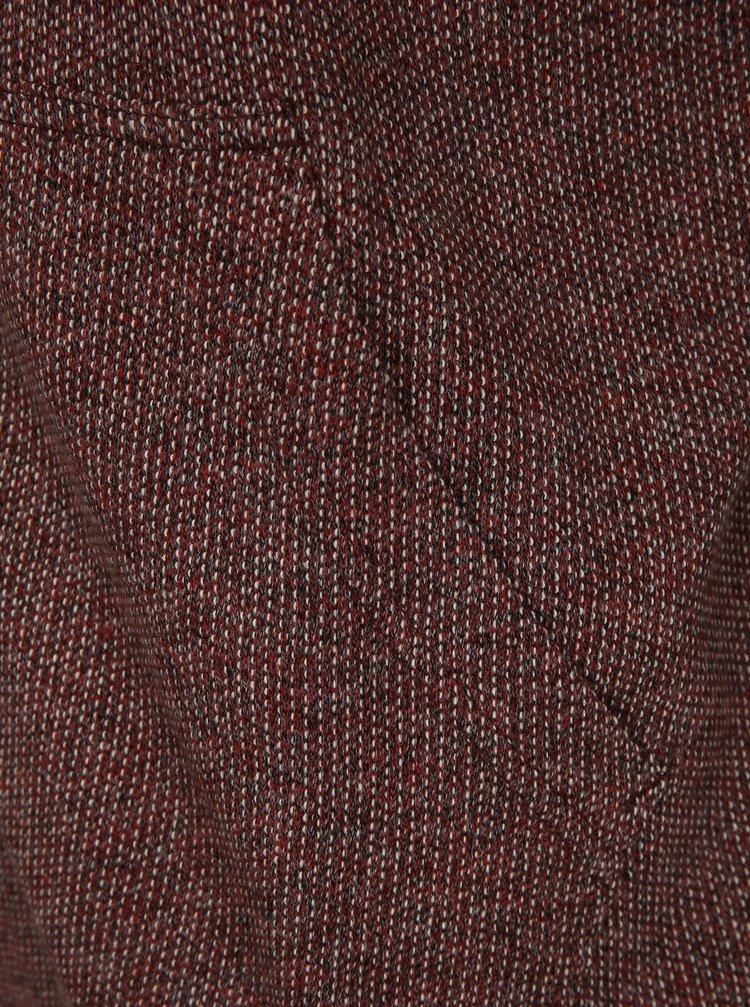 fb7d74eb3f1 Vínová pánská žíhaná mikina s kapucí BUSHMAN Burke