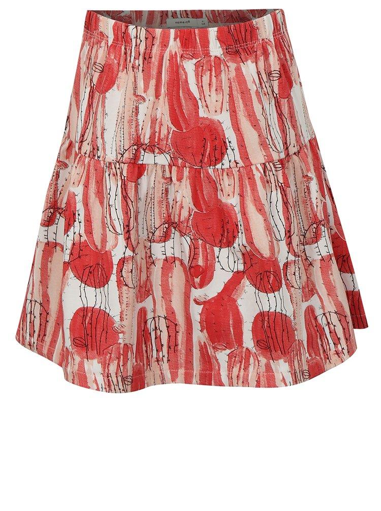 Bílo-červená holčičí vzorovaná sukně name it Julie