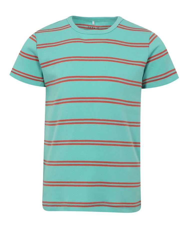 Červeno-modré klučičí pruhované tričko name it Villy