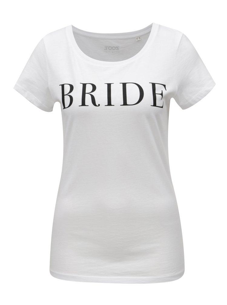 Bílé dámské tričko s potiskem ZOOT Bride