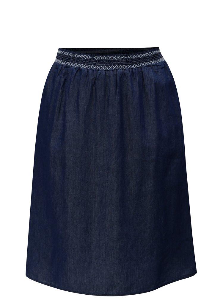 Tmavě modrá sukně s gumou v pase Ulla Popken