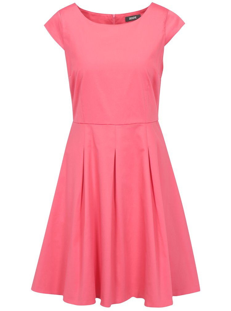 Ružové šaty s áčkovou sukňou ZOOT