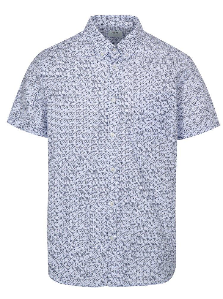 Camasa alb-albastru cu model Burton Menswear London