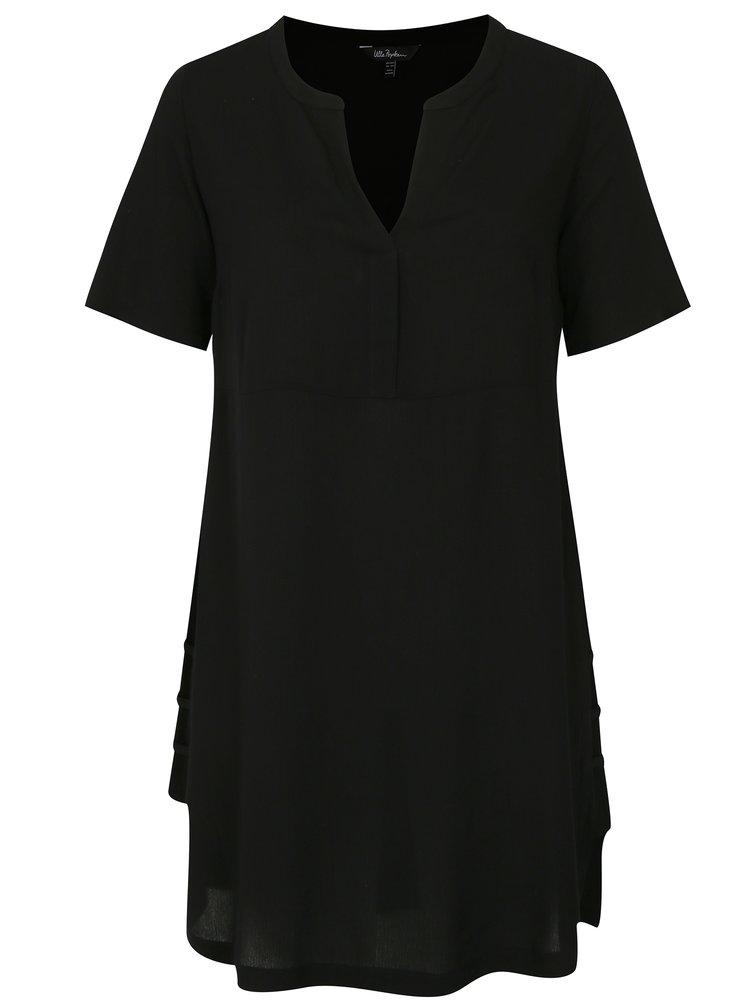 Černé šaty s véčkovým výstřihem Ulla Popken