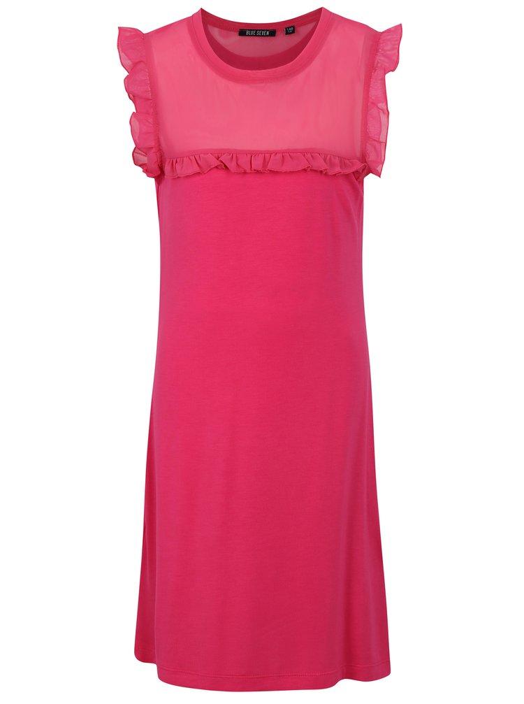 Růžové holčičí šaty Blue Seven