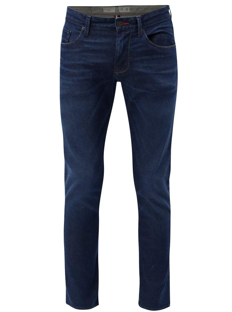 Tmavě modré pánské recyklované slim fit džíny Tommy Hilfiger
