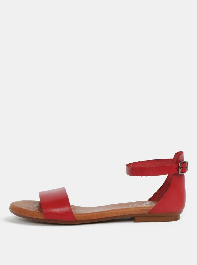 Sandale rosii din piele naturala OJJU