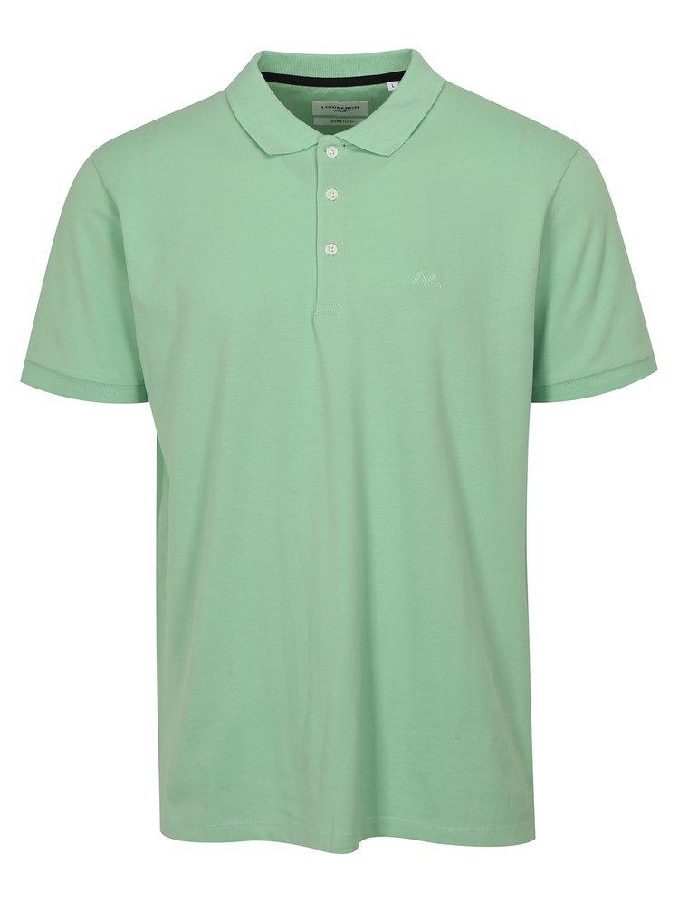 Světle zelené polo tričko Lindbergh