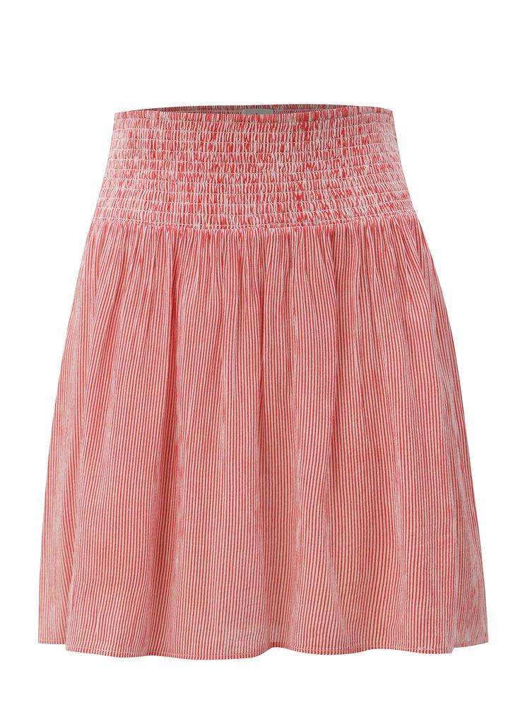 Bílo-červená áčková sukně Blendshe Linne