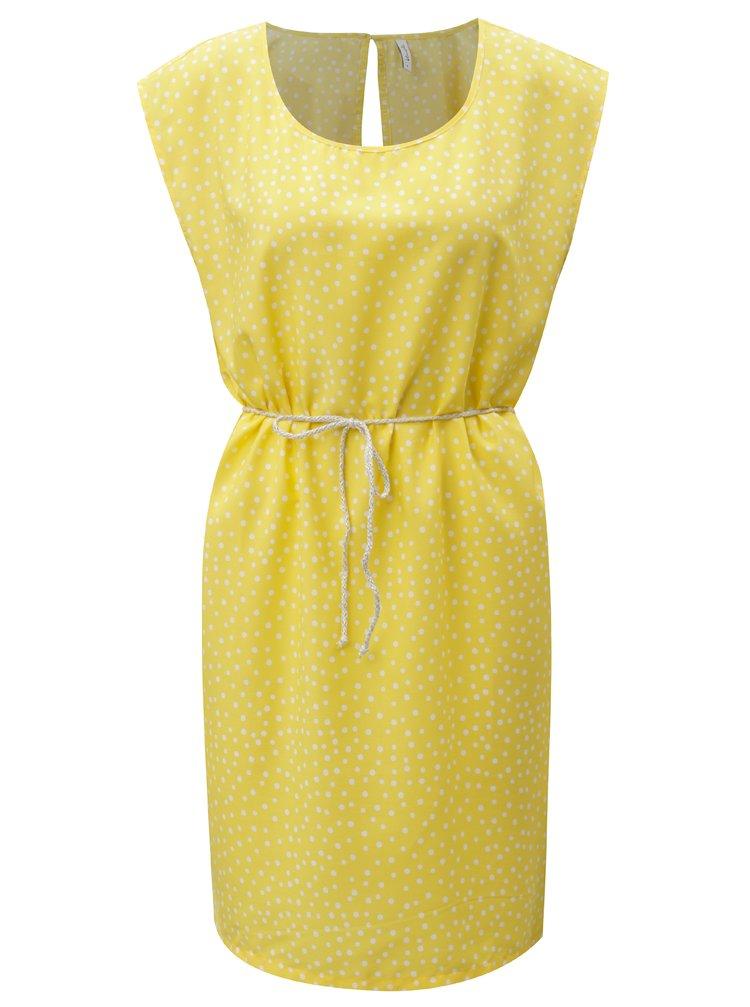 Žluté puntíkované šaty Blendshe Dot