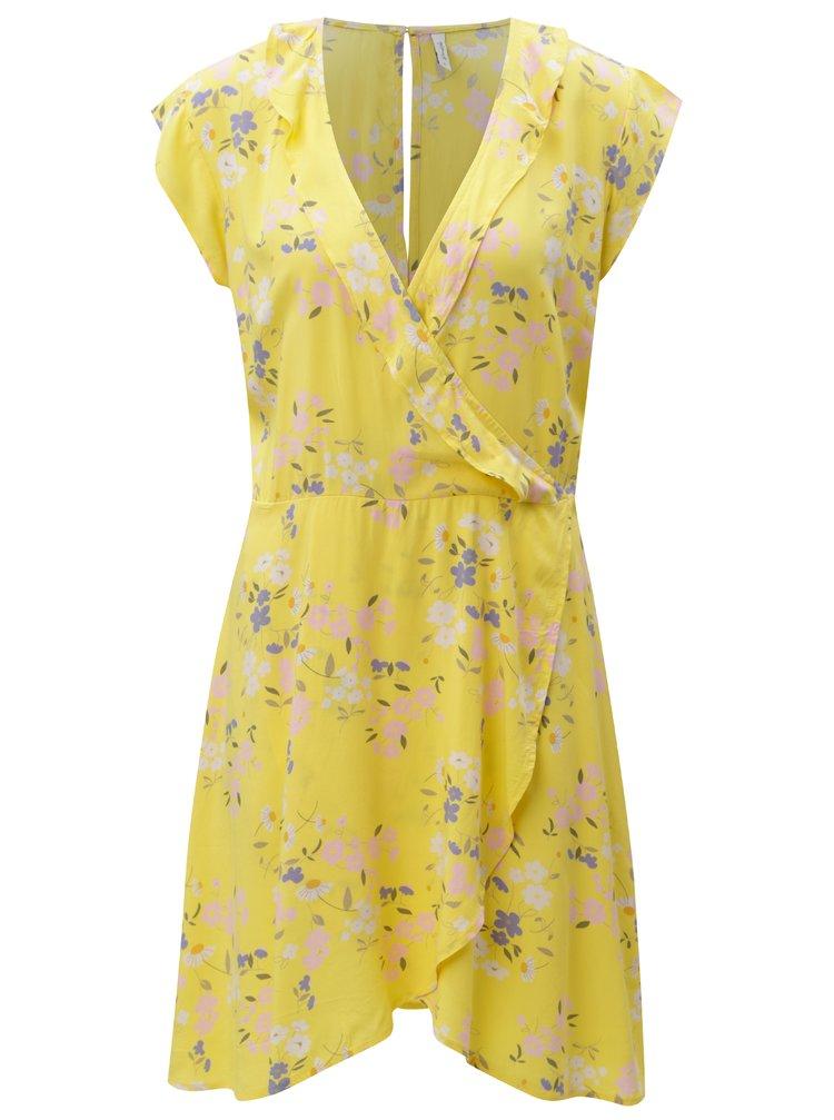 Žluté květované šaty Blendshe Kira