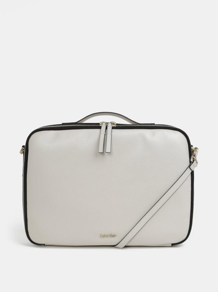 Béžová dámská taška na notebook Calvin Klein Jeans