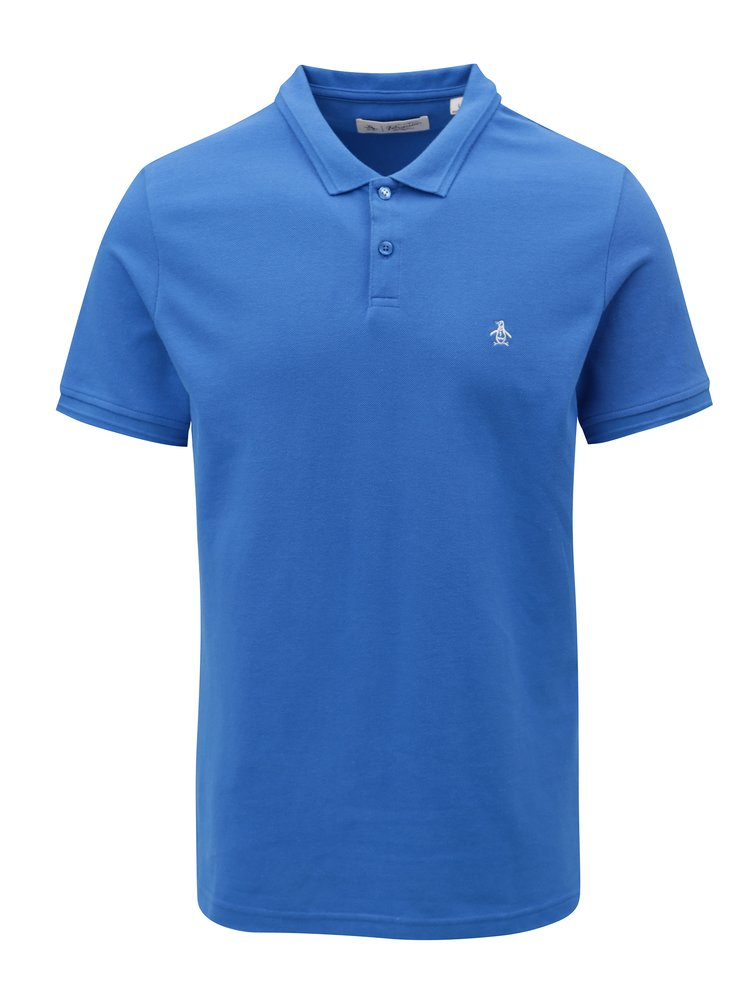 Modré polo tričko Original Penguin Raised