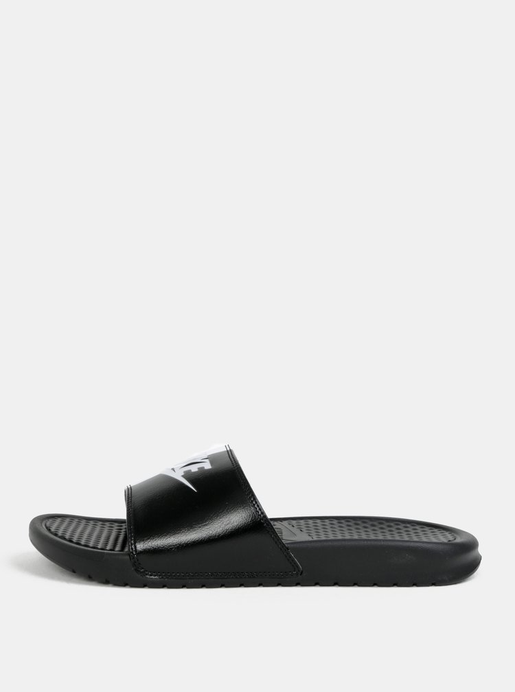 Bílo-černé pánské pantofle Nike Benassi