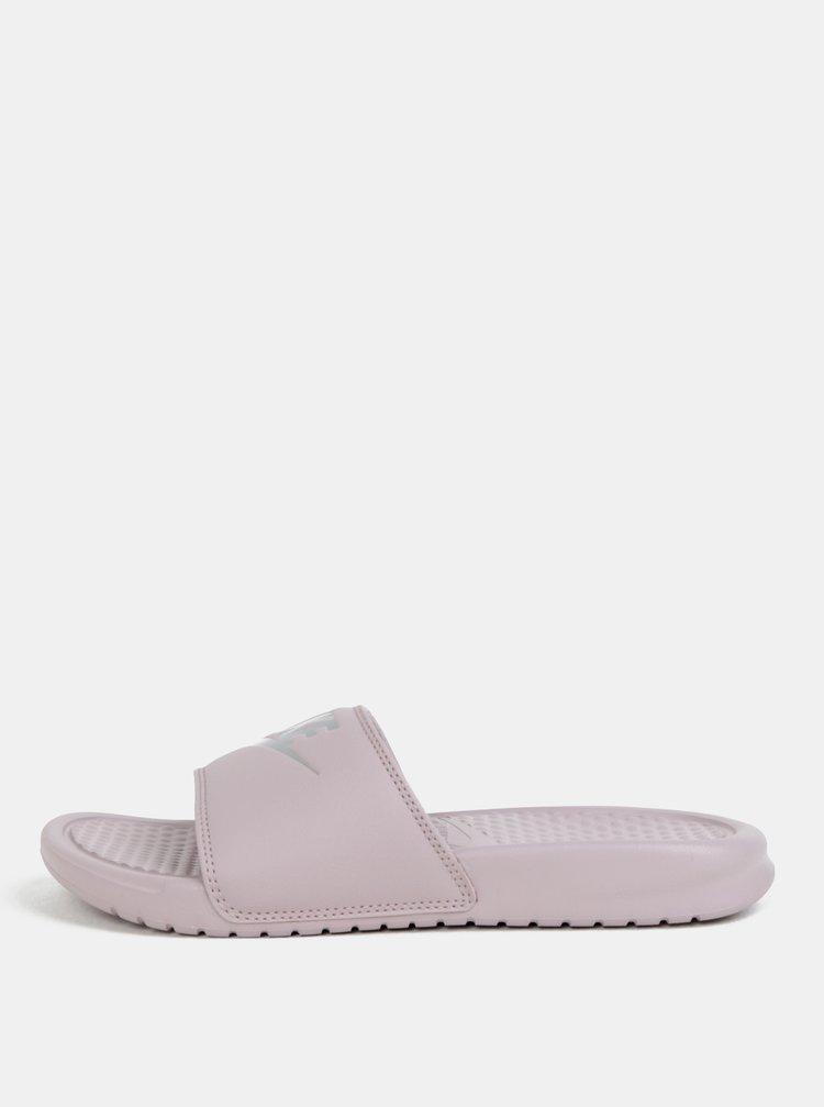 Svetlofialové dámske šľapky Nike Benassi
