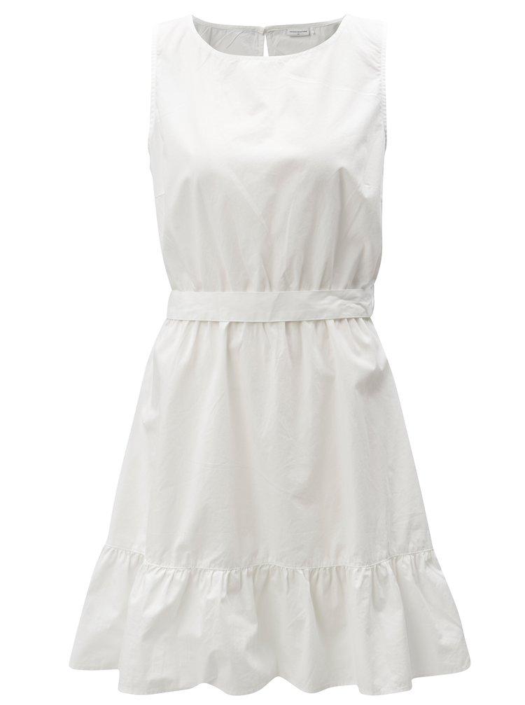 Biele šaty s volánom a zaväzovaním Jacqueline de Yong Damilla