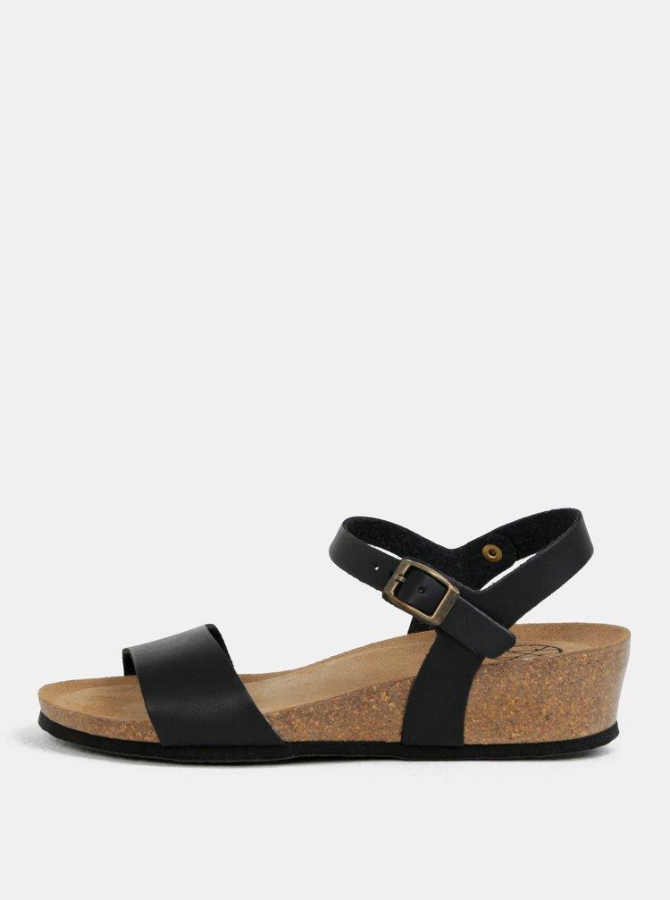 Černé sandály na klínku OJJU